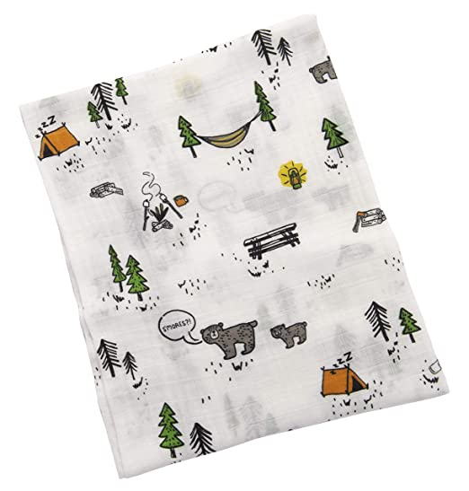 Amazon.com: 4 Pack - Camping Mountain Theme Baby Swaddle ...