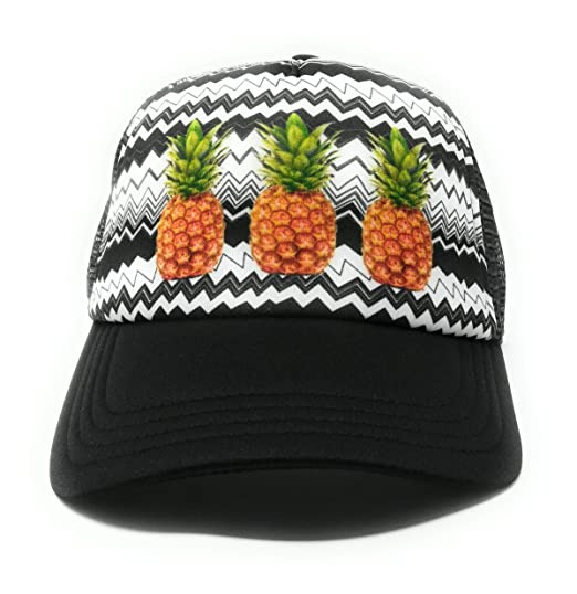 No Boundaries Women s Pineapple Snapback Hat with Print Foam Front ... 0a719921408