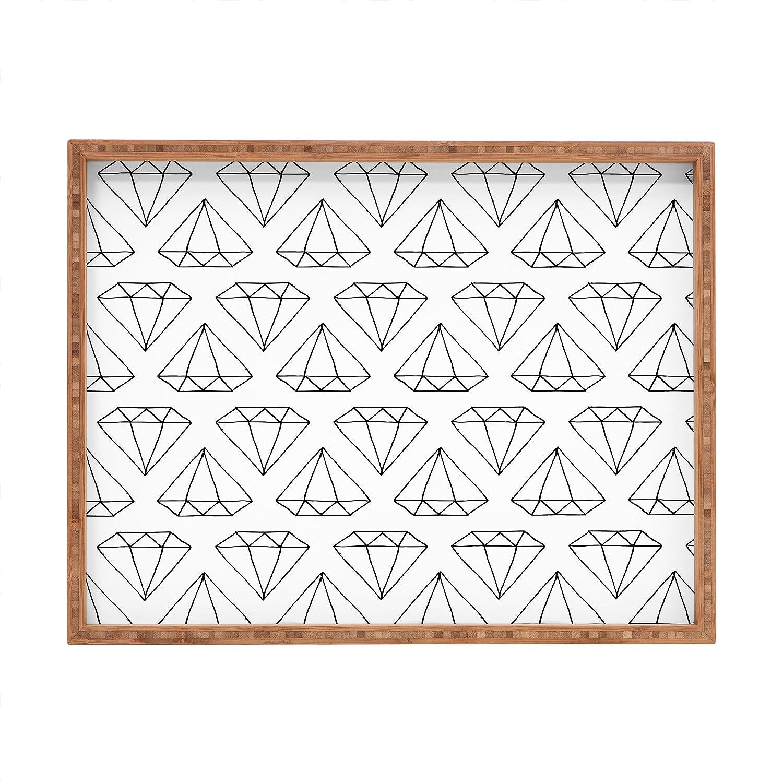 14 x 18 Deny Designs Wesley Bird Diamond Print 2 Indoor//Outdoor Rectangular Tray
