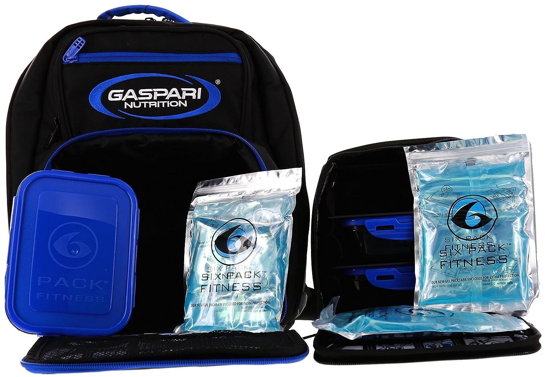 ebb7f8996768 Amazon.com  6 Pack Fitness Gaspari Expedition Backpack W  Removable Meal  Management System 300 Black Blue w  Bonus ZogoSportz Cyclone Shaker    Gaspari ...