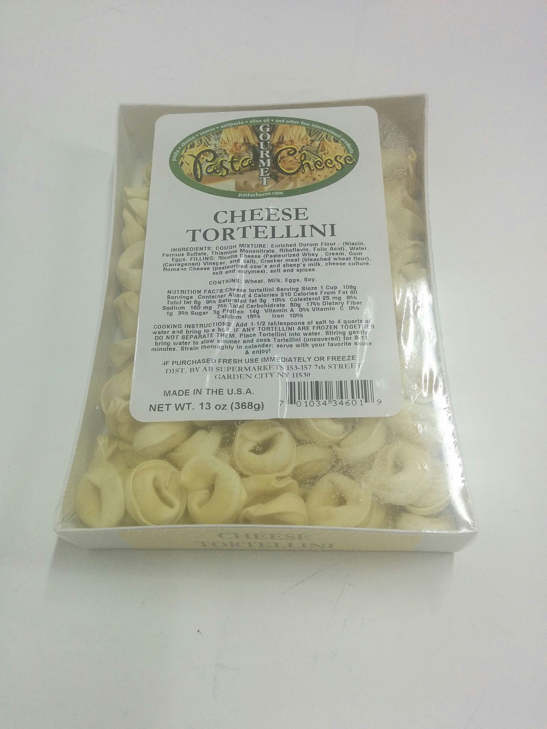 PastaCheese Fresh Cheese Tortellini Pasta, 13 Ounce (Pack of 4)
