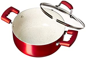 IMUSA USA IMU-25074 Dutch Oven 4.9-Quart, Ruby Red