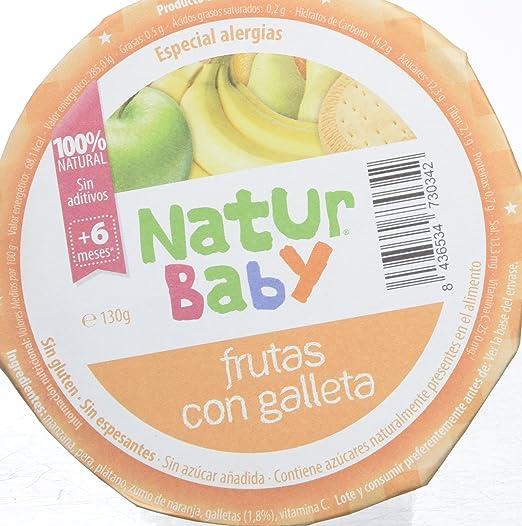 Natur Baby Puré Natural de Frutas con Galletas para Bebé - Paquete de 18 x 130 gr - Total: 2340 gr: Amazon.es: Alimentación y bebidas