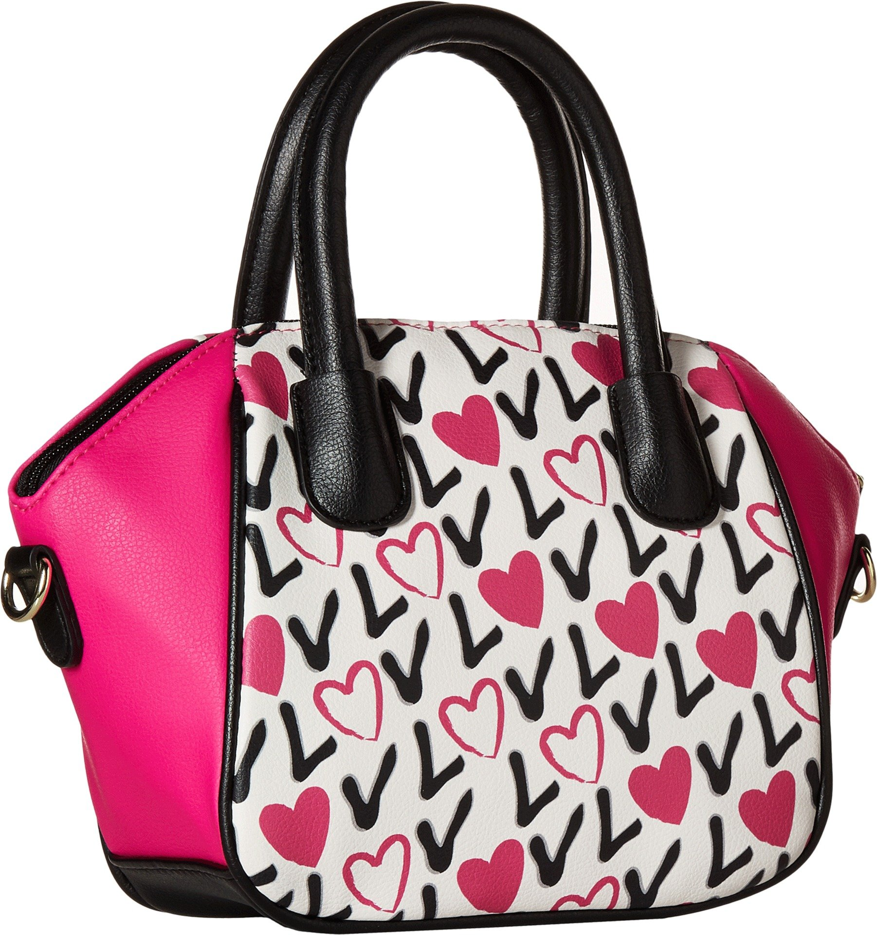 Luv Betsey Women's Quinn Mini Size PVC Satchel Love Pink-Az One Size by Luv Betsey (Image #2)