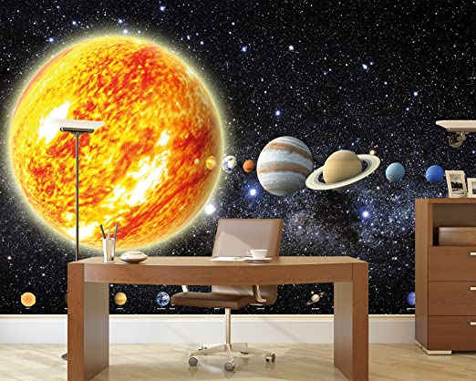 Amazon.com: Poster Solar System Planets Mural Decoration Galaxy ...