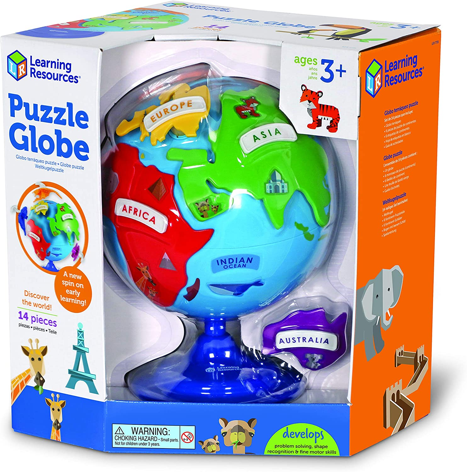 Learning Resources- Globo terráqueo y puzle, Color (LER7735 ...