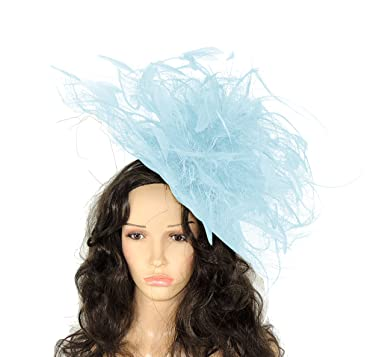 b30a133e77c7f Hats By Cressida Vulture Sinamay & Feather Large Ascot Kentucky Derby  Fascinator Hat With Headband -