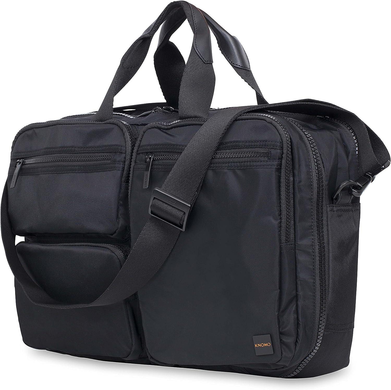 Knomo Luggage Men s Wilton Briefcase, Black, One Size