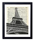 Eiffel Tower (#1) Upcycled Vintage Dictionary Art