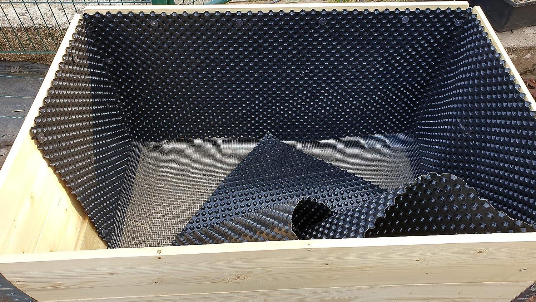 Schwarz Chrispol Loch 4,5mm Montagekn/öpfe mit Nagel 25mm f/ür Noppenbahn 100 St/ück Scheibendurchmesser 22mm