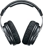 Shure SRH1540 Professional Premium Closed-back Headphones, clear, extended highs and warm, accurate bass, aluminum alloy and carbon fiber construction, Alcantara® ear pads, detachable cable, black/silver