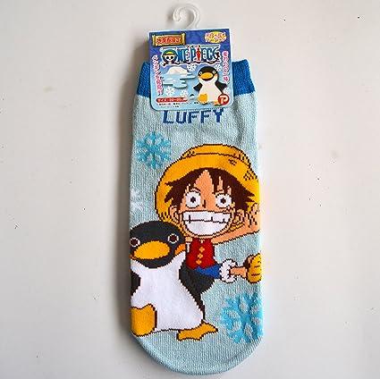 One Piece Calcetines de Fantasmas Socks Rufy Luffy Pingüino Originales Talla 22-24 .