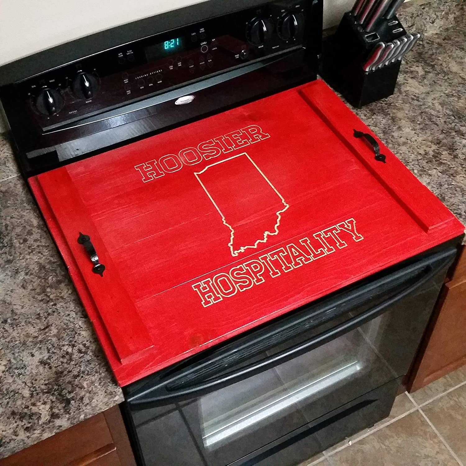 Stove Top Cover with Custom Carving