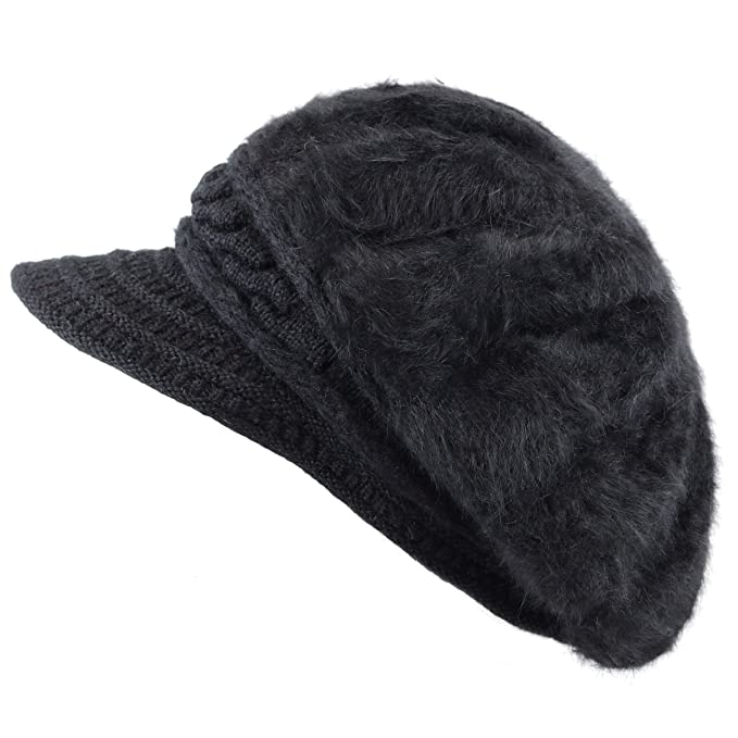 70fedd080d2ad THE HAT DEPOT 200h5922 Celeb Style Angora Knit Visor Trendy One Size ...