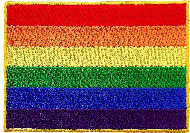 BRAND NEW RAINBOW FLAG GAY LESBIAN LGBT PRIDE IRON ON PATCH