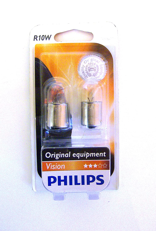 Philips R10/W Auto Leuchtmittel 12/V 10/W VISION Blister St/ück 2pc 12814b2