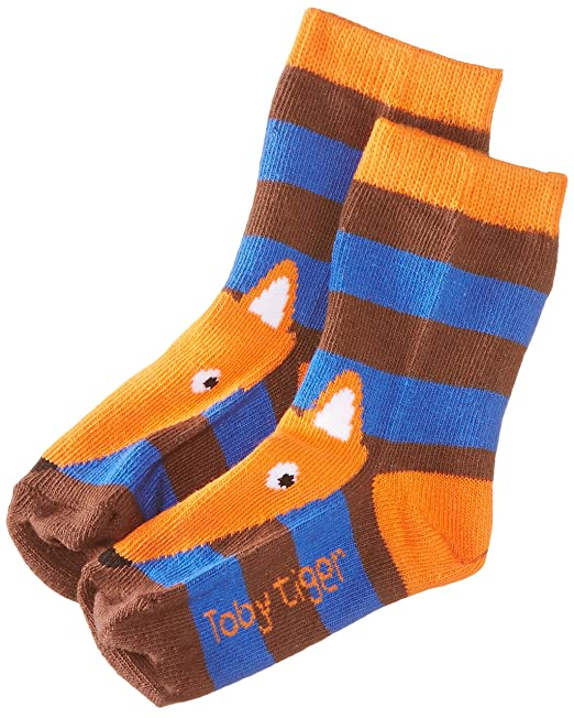 Toby Tiger Blue Fox Socks - Calcetines para niños, color blue, talla 3 años