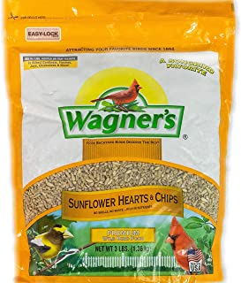 product image for Wagner's 57051 Sunflower Hearts & Chips Wild Bird Food, 3-Pound Bag
