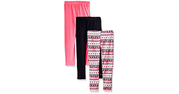 3a227d2e3b9d6 Limited Too Little Girls' 3 Pack Fleece Legging (More Styles Available),  Multi Print, 5/6