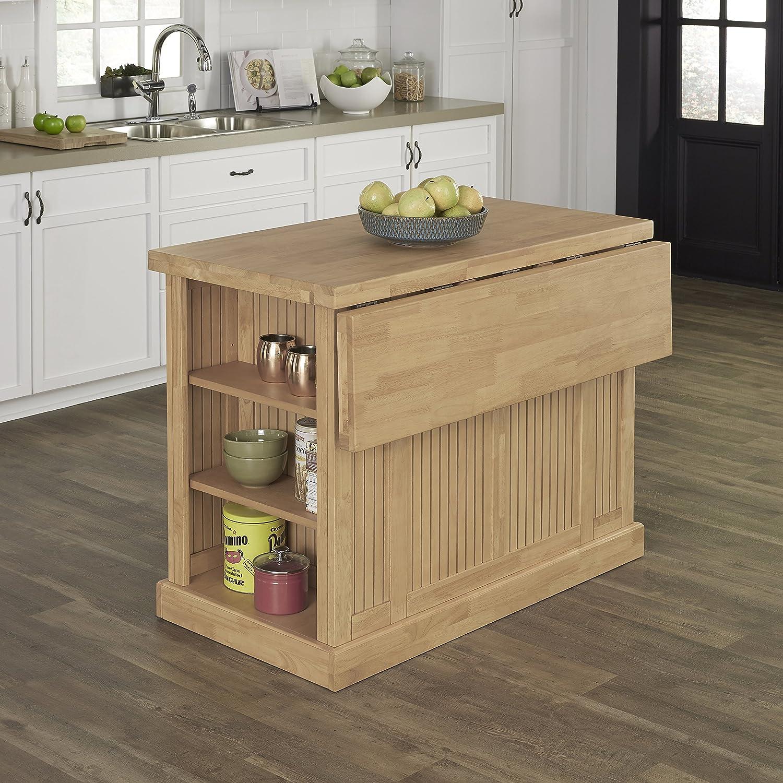 Amazon com home styles nantucket natural butcher block top kitchen island kitchen dining