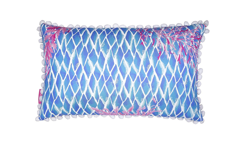 Lilly Pulitzer Indoor Outdoor Medium Decorative Pillow, Kaleidoscope Coral