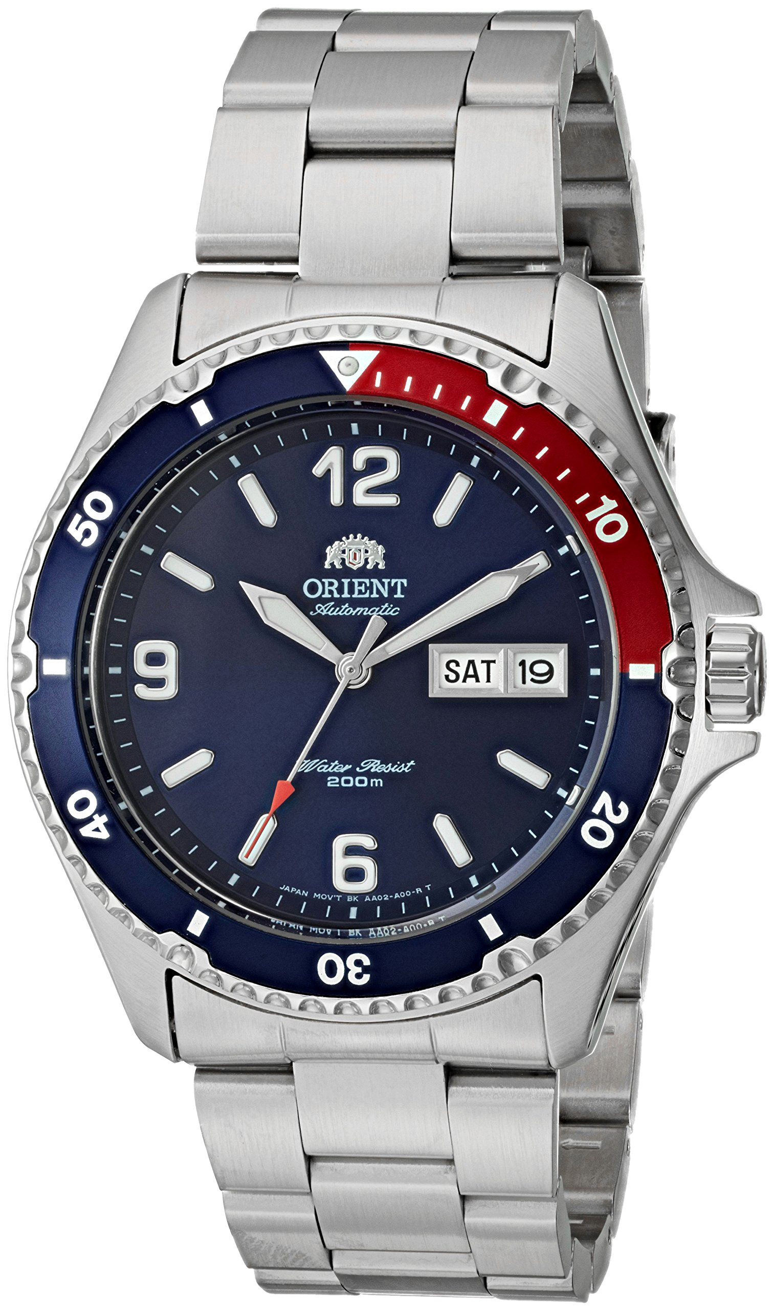 Orient Men's 'Mako II' Japanese Automatic Stainless Steel Casual Watch, Color:Silver-Toned (Model: FAA02009D9)