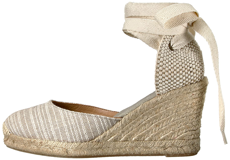 Soludos Sandal Women's Striped Tall (90mm) Wedge Sandal Soludos B01NCSMVH0 7.5 B(M) US|Natural a438f8