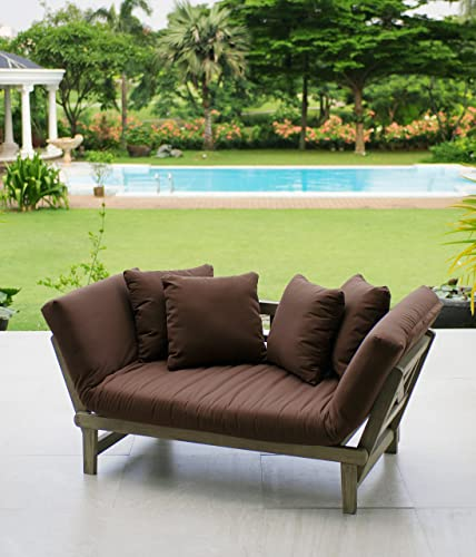 Cambridge Casual Solid Wood West Lake Outdoor Convertible Sofa Daybed