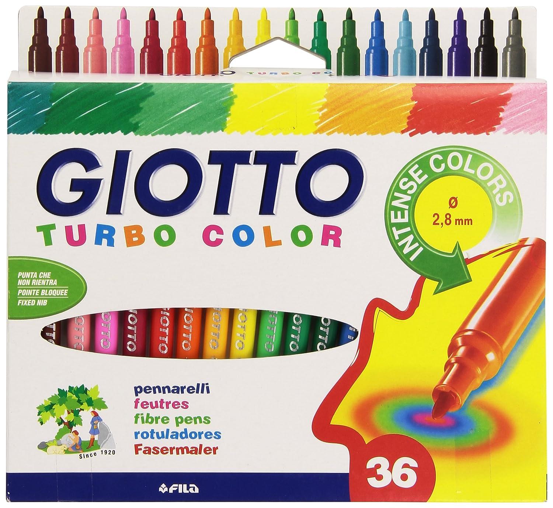 8 Farben LYRA Faserschreiber Giotto Turbo Glitter