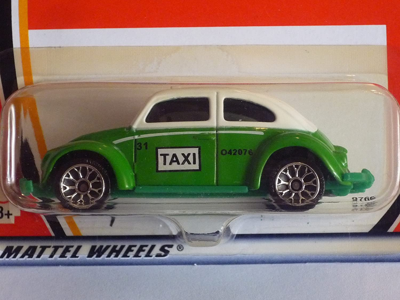 Matchbox Hero City Volkswagen VW Beetle Bug Taxi #31 GREEN