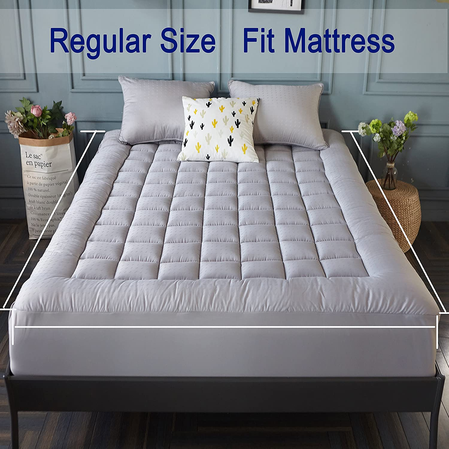Mattress Pad Cover (King Size)- Cooling Mattress Topper