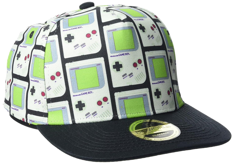 Nintendo Gameboy All-Over Print Snapback Baseball Cap, Grey, One Size Meroncourt