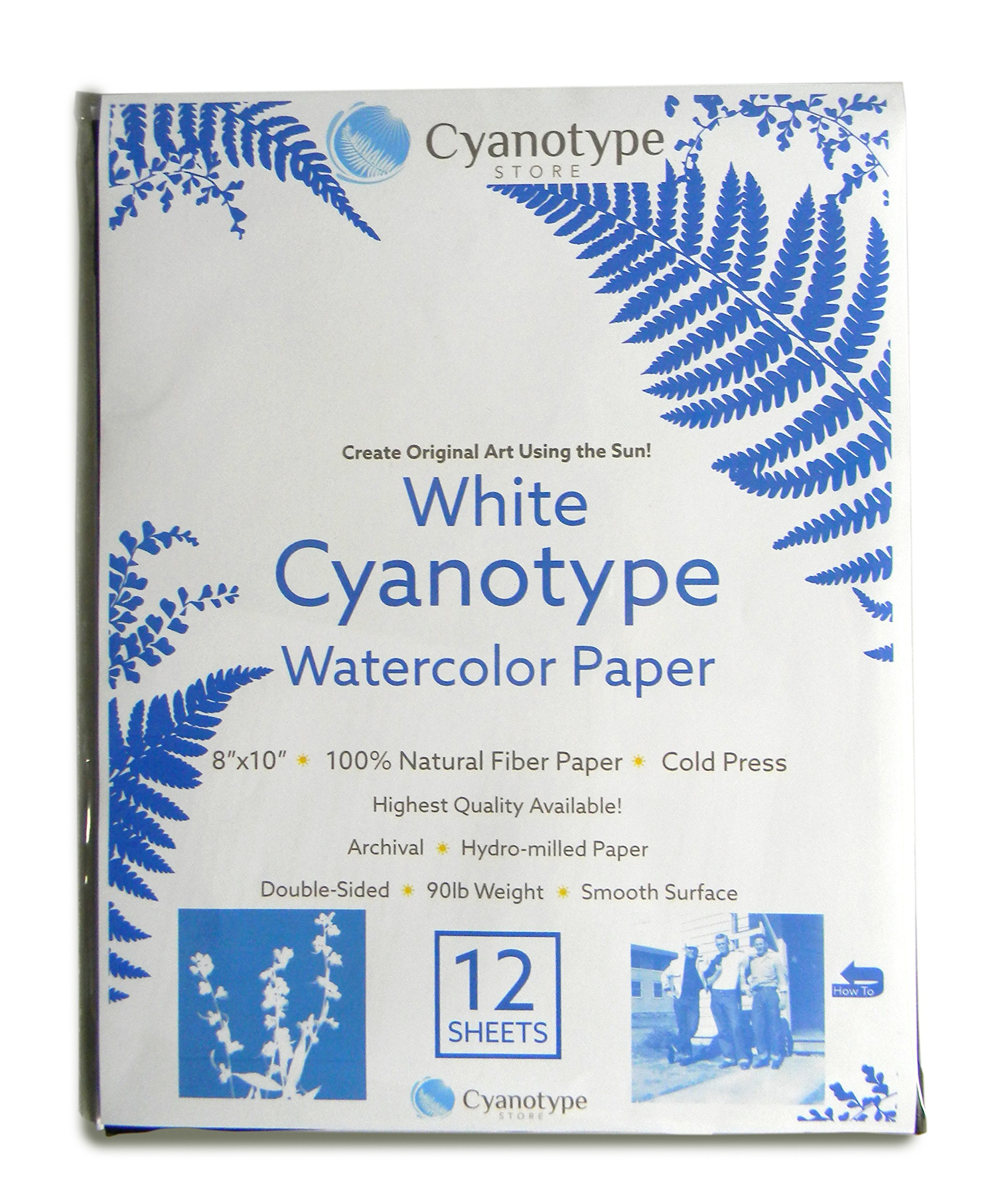 Cyanotype 8'' x 10'' Paper - 12 pack (White) by Cyanotype Store