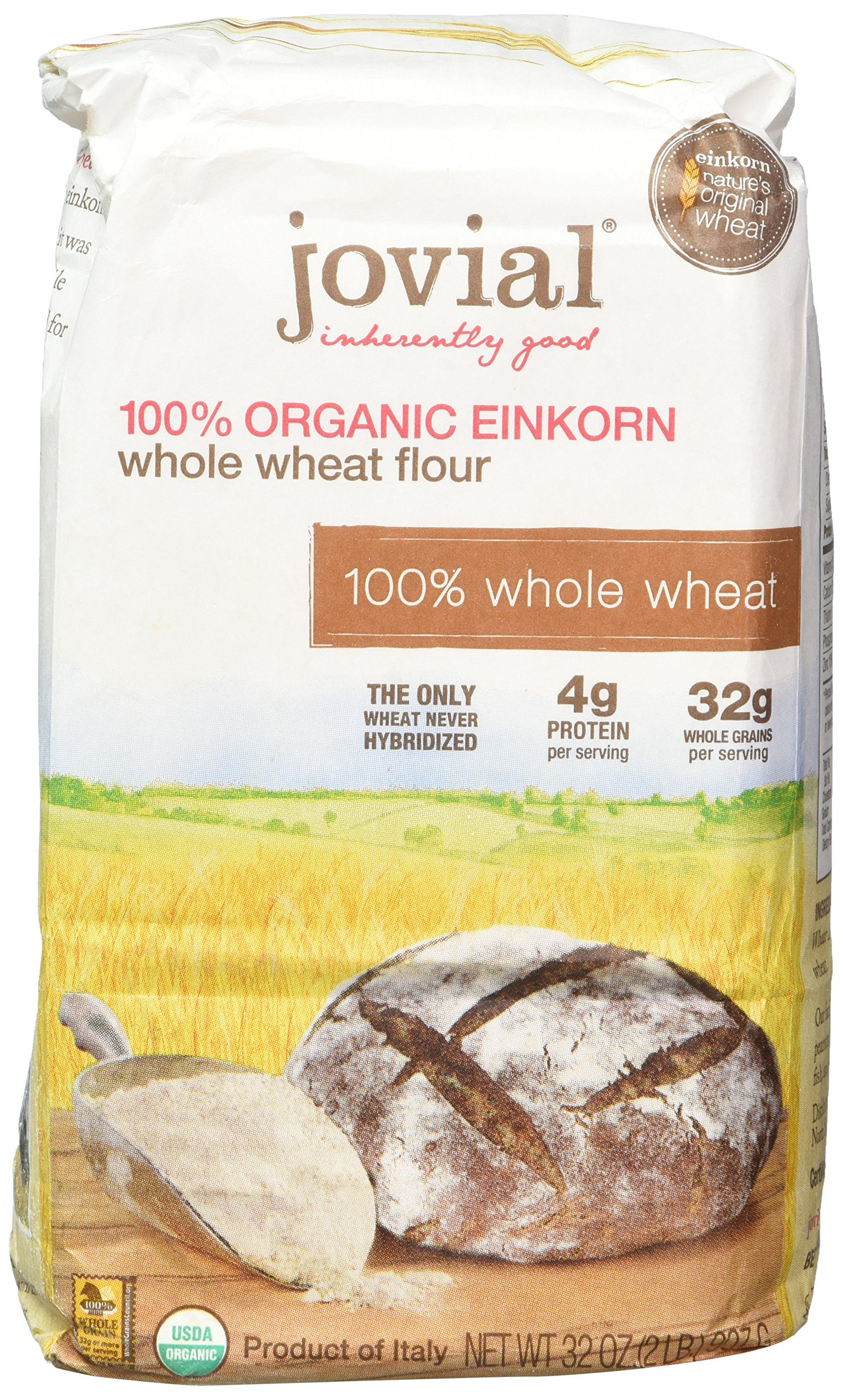 Jovial 100% Organic Einkorn Whole Wheat Flour 32oz by Jovial