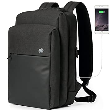 Amazon.com  BISON DENIM 15.6 Inch Laptop Backpack Anti Theft Travel  Backpack Mens Computer Backpack Waterproof College Bookbag with USB  Charging Port  BISON ... 51c6320cbd3ed