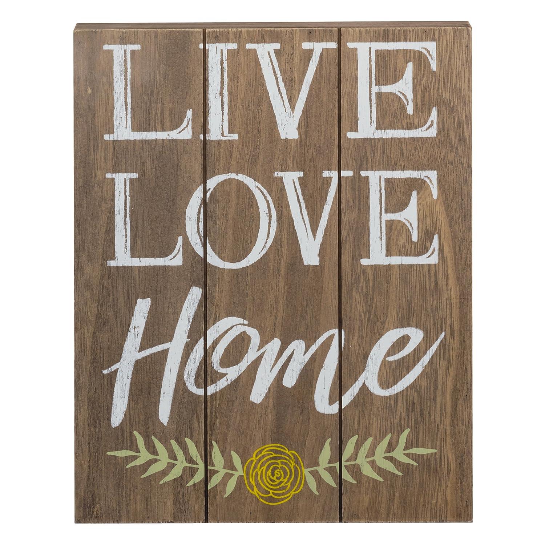 PRINZ Potting Shed Live Love Home Natural Wood Plaque 9.5x12