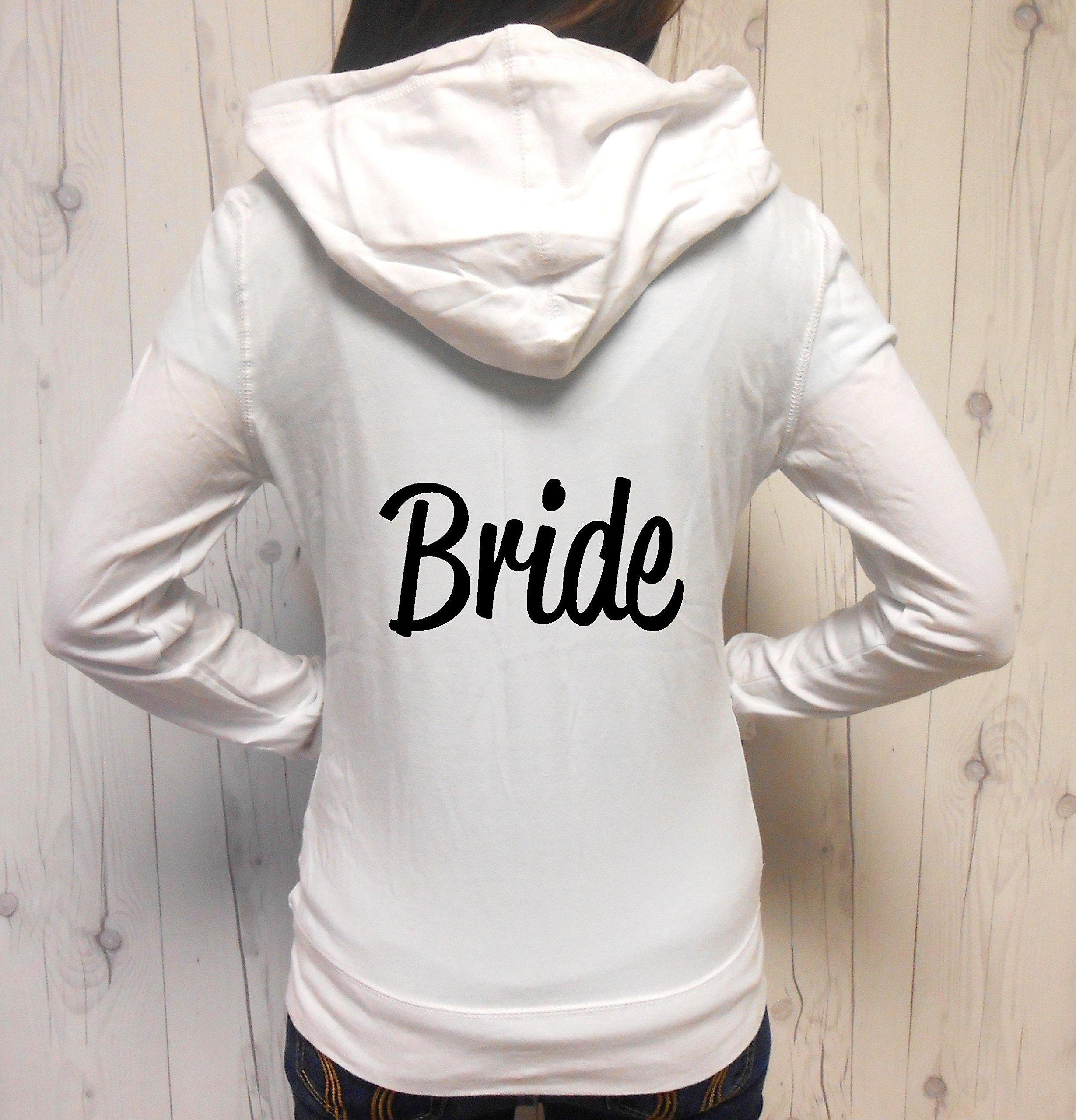 Women's Bride Hoodie, Bride Zip-Up, Bride Jacket, Bride Zip-Up Hoodie