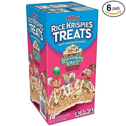 Fine Kelloggs Rice Krispies Treats Crispy Marshmallow Squares Personalised Birthday Cards Sponlily Jamesorg