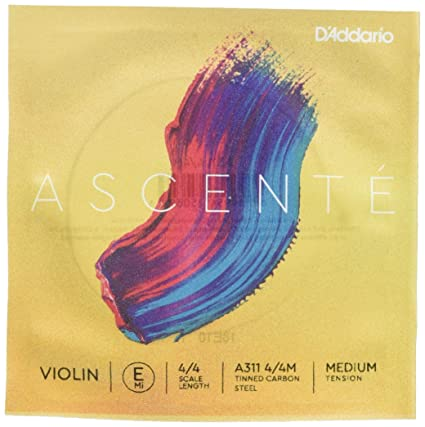 D/'Addario H310W Helicore Violin String Set Sealed Pouch Prevents Corrosion Versatile and Durable Stranded Steel Core for a Clear 4//4 Scale Heavy Tension with Steel E String Warm Tone 1 Set