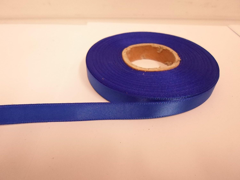 2 metros x 10 mm cinta de raso Royal//cobalto azul oscuro doble cara 10mm