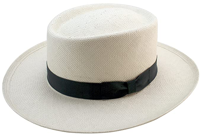 1930s Mens Hat Fashion  Gambler Panama Straw Hat $89.00 AT vintagedancer.com