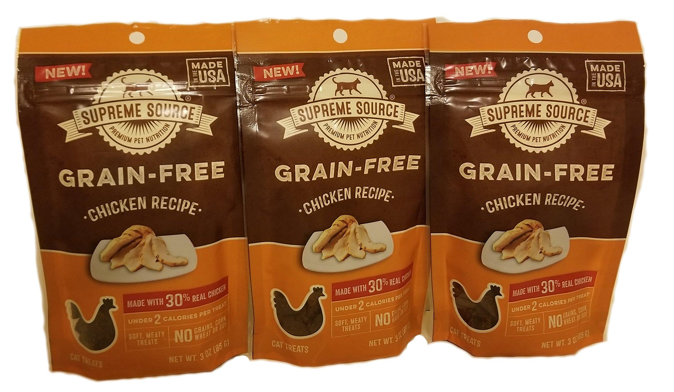 Supreme Source Grain-Free Chicken Recipe Cat Treat 3 (3oz) Packet Bundle
