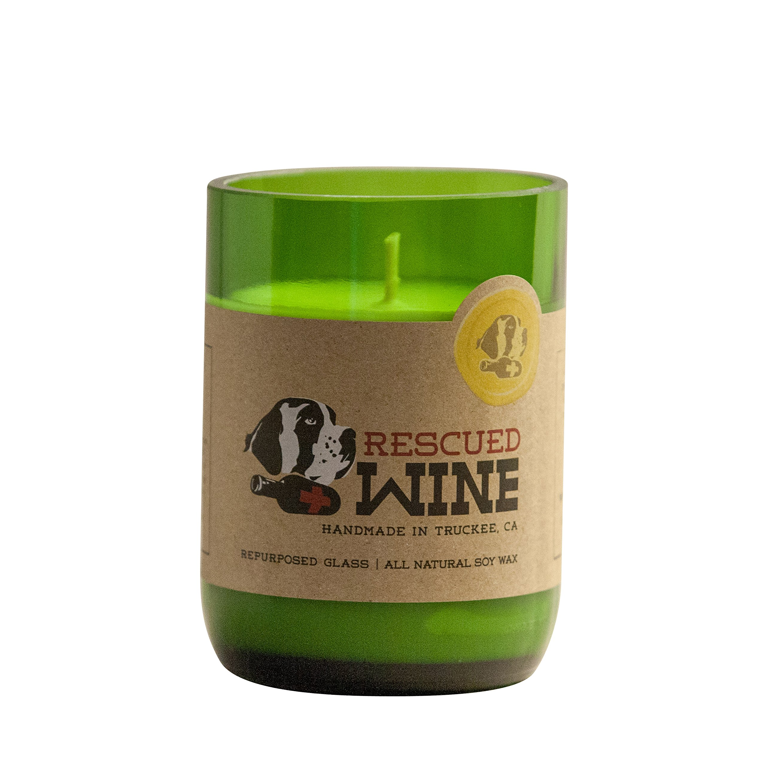 Rescued Wine Recycled Wine Bottle Soy Wax Candle, Sauvignon Blanc