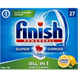 Finish Powerball All in One Dishwasher Tablets, Lemon Sparkle, 27 Pack