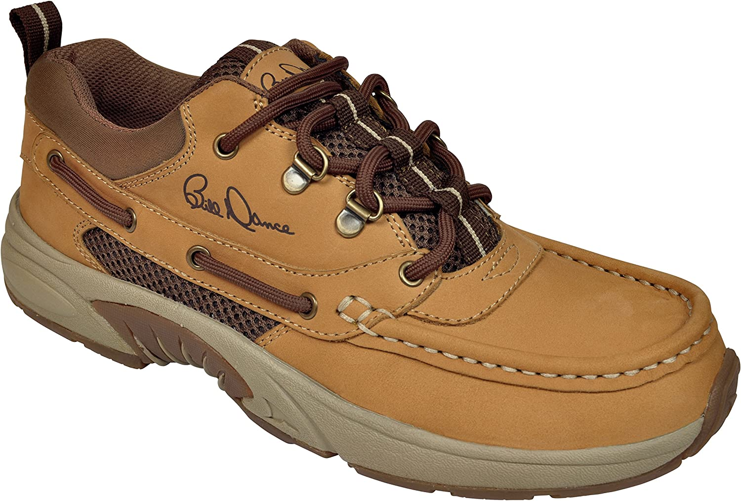Fishing and Outdoor Shoe Premium Leather and Comfort Rugged Shark Bill Dance Pro Boat Shoe Mens Sizes 8 to 13
