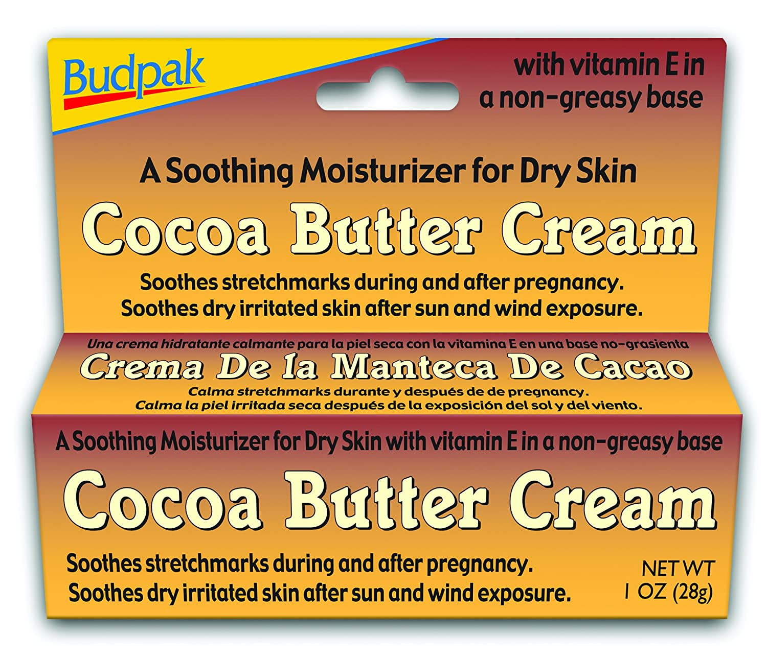 Amazon.com: Budpak Cocoa Butter Cream, 1 Ounce (Pack of 6): Health & Personal Care