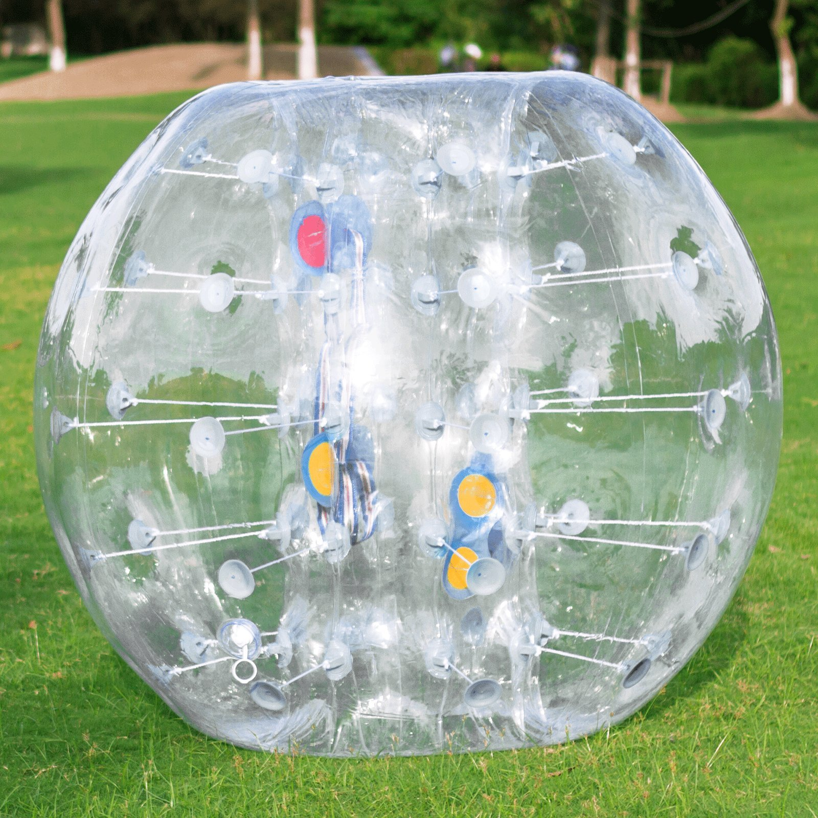 Popsport Inflatable Bumper Ball 4FT/5FT Bubble Soccer Ball 0.8mm Eco-Friendly PVC Zorb Ball Human Hamster Ball for Adults and Kids (4FT Transparent) by Popsport