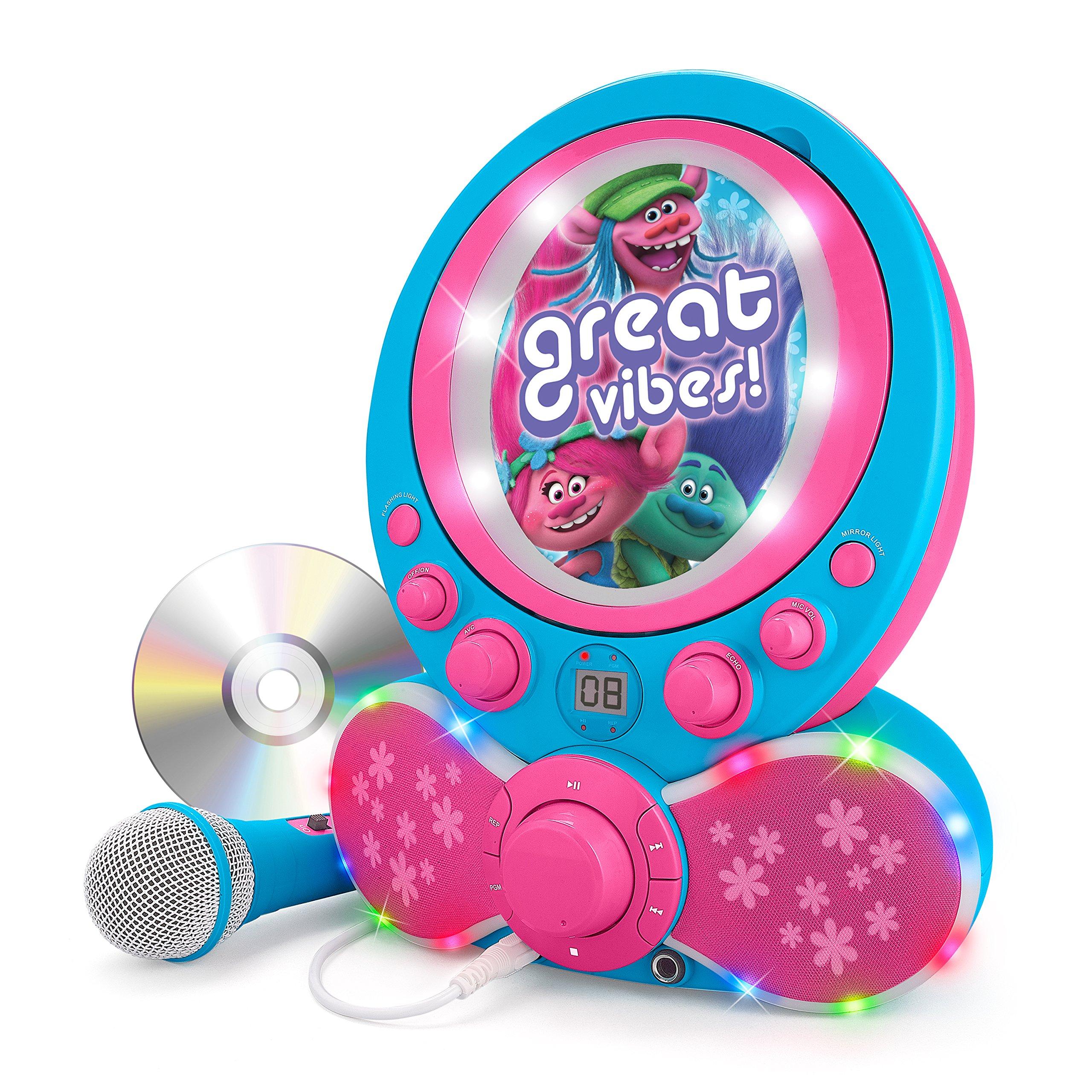 KIDdesigns Trolls CDG Karaoke Machine CD Player with Microphone by KIDdesigns (Image #2)