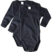 wellyou Body de manga larga para bebé y niño, 100 % algodón, manga larga, juego de 2 tallas 92-134