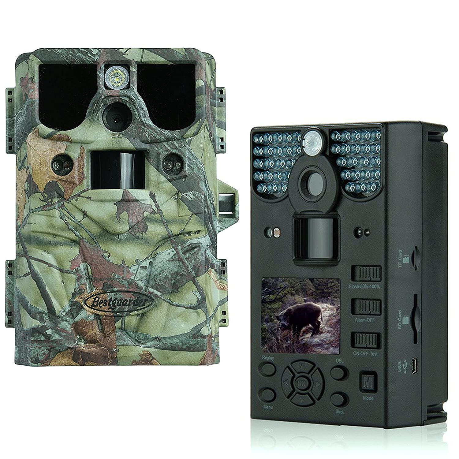 Was Ist Eine Tf Karte.Game Trail Camera 8 In 1 Hd Ip66 42pcs Ir Led Infrared Night Vision Video Cam With Game Call Function For Cold Blooded Animals 12mp Image 1280p